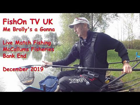 FishOn TV UK.  Live Match Fishing.  McCallums Fisheries, Me Brolly's A Gonna!  December 2019