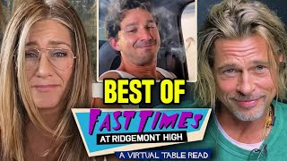Brad Pitt & Jennifer Aniston Reunite! Shia LaBeouf Spicoli Best of Fast Times At Ridgemont High LIVE