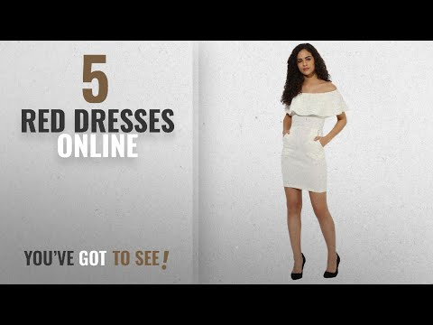 Top 10 Red Dresses Online [2018]: Texco women's off shoulder party dress