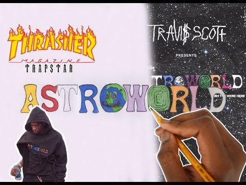 How To Draw Fonts Astroworld Travis Scott Youtube