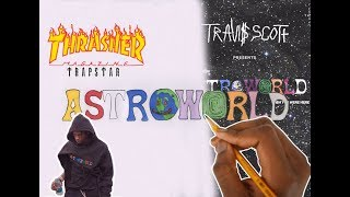 HOW TO DRAW FONTS | ASTROWORLD ! (TRAVIS SCOTT)