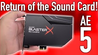 The Last Sound Card You Will Ever Need! (Creative AE5 RGB)
