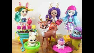 THE ENCHANTIMALS. Meet Fluffy Bunny, Danessa Deer and Ohana Owl.
