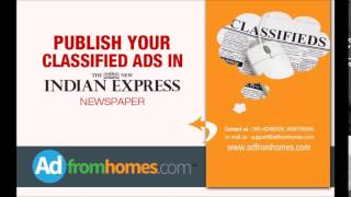 Indian Express advertisement rate card | Mathrubhumi matrimonial advertisement
