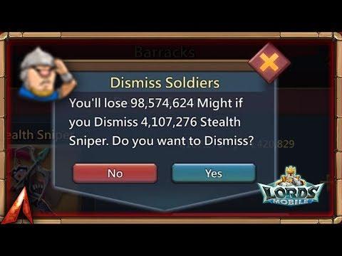 Dismissing Over 4M Troops! Migration Time! Lords Mobile