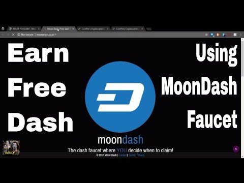 Earn Free Dashcoin With The Moon Dash Faucet!