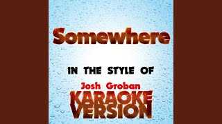 Cover images Somewhere   (In the Style of Josh Groban) (Karaoke Version)