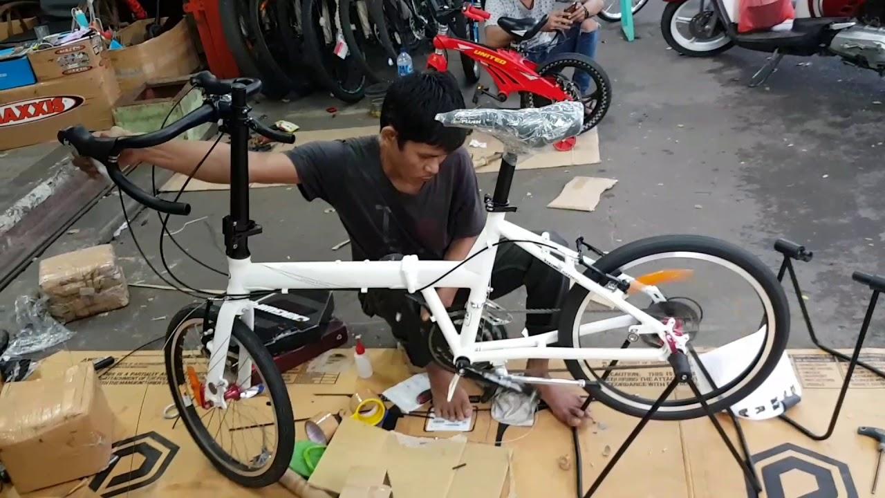 Merakit Folding Bike di Toko Sepeda Majuroyal ⭐⭐⭐⭐⭐ - YouTube