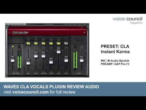 Review Audio Waves Cla Vocals Plugin Youtube