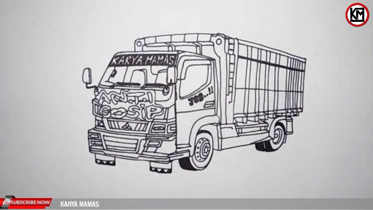 Belajar Mewarnai Mobil Truk Oleng Anti Gosip Youtube