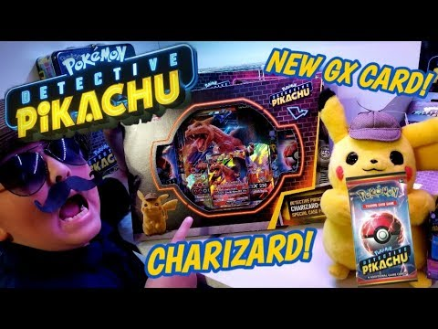 New Detective Pikachu Pokemon Cards Charizard Gx Case File Mystery Box New Booster Packs Unboxing Youtube