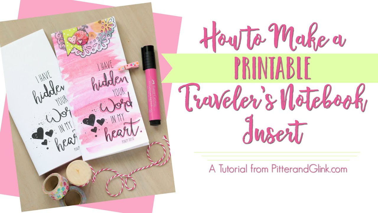 Insane image with free printable traveler's notebook inserts