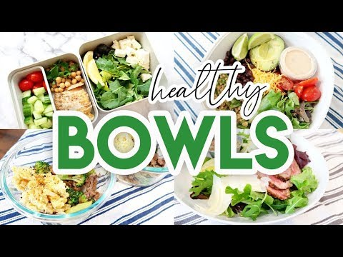 🥗 HEALTHY BOWLS MEAL PREP! 😀 EASY RECIPES FOR LUNCH OR DINNER 🍽 LOW CARB + KETO MEAL PREP
