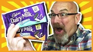 Cadbury's OREO Mint and OREO Peanut Butter Flavoured Chocolate Bars - Guest Host Sam (the dog)