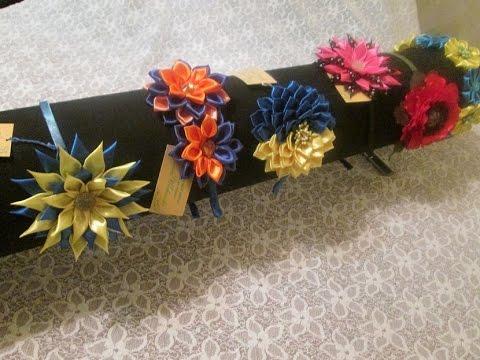 Цветы для из ткани для ободков своими руками фото 135