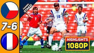 Чехия Франция 0 0 6 5 Обзор Матча Полуфинал Чемпионата Европы 26 06 1996 HD
