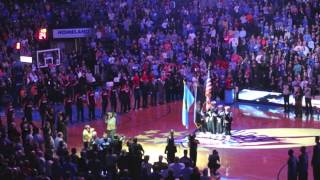 Thunder Fans Honor Military With Anthem