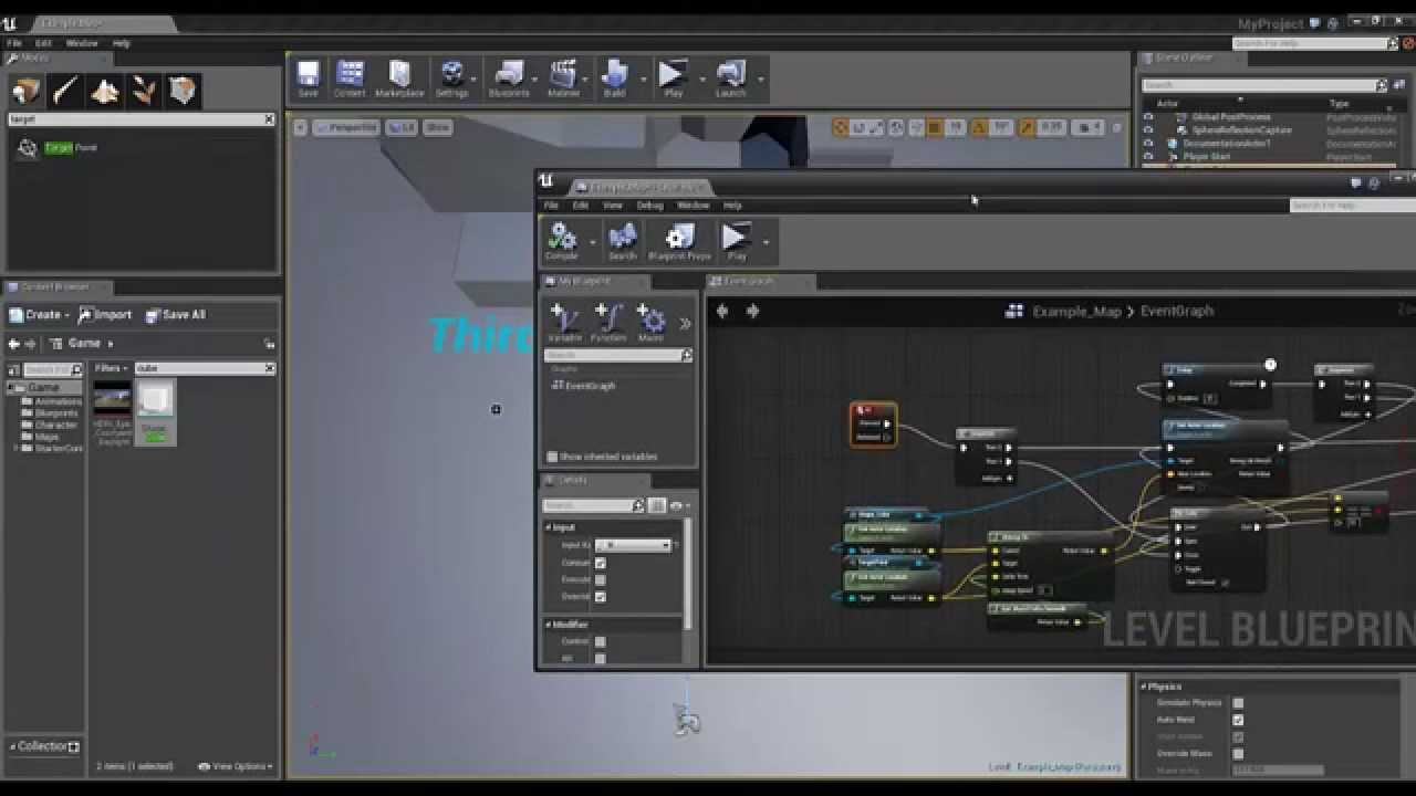 Unreal Engine 4 Simple Interpolation To Move An Object