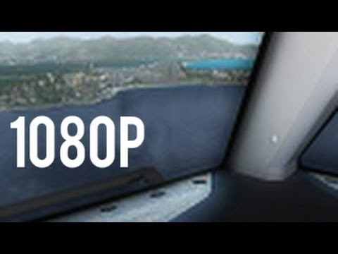 【FSX 100% HD】 Landing at St. Maarten from Boeing 767 Cockpit
