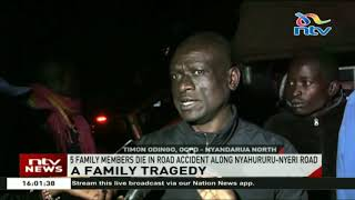 5 family members die in road accident along Nyahururu- Nyeri road