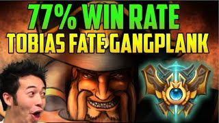 77 win rate best gangplank in the world build guide tobias fate na challenger league of legends