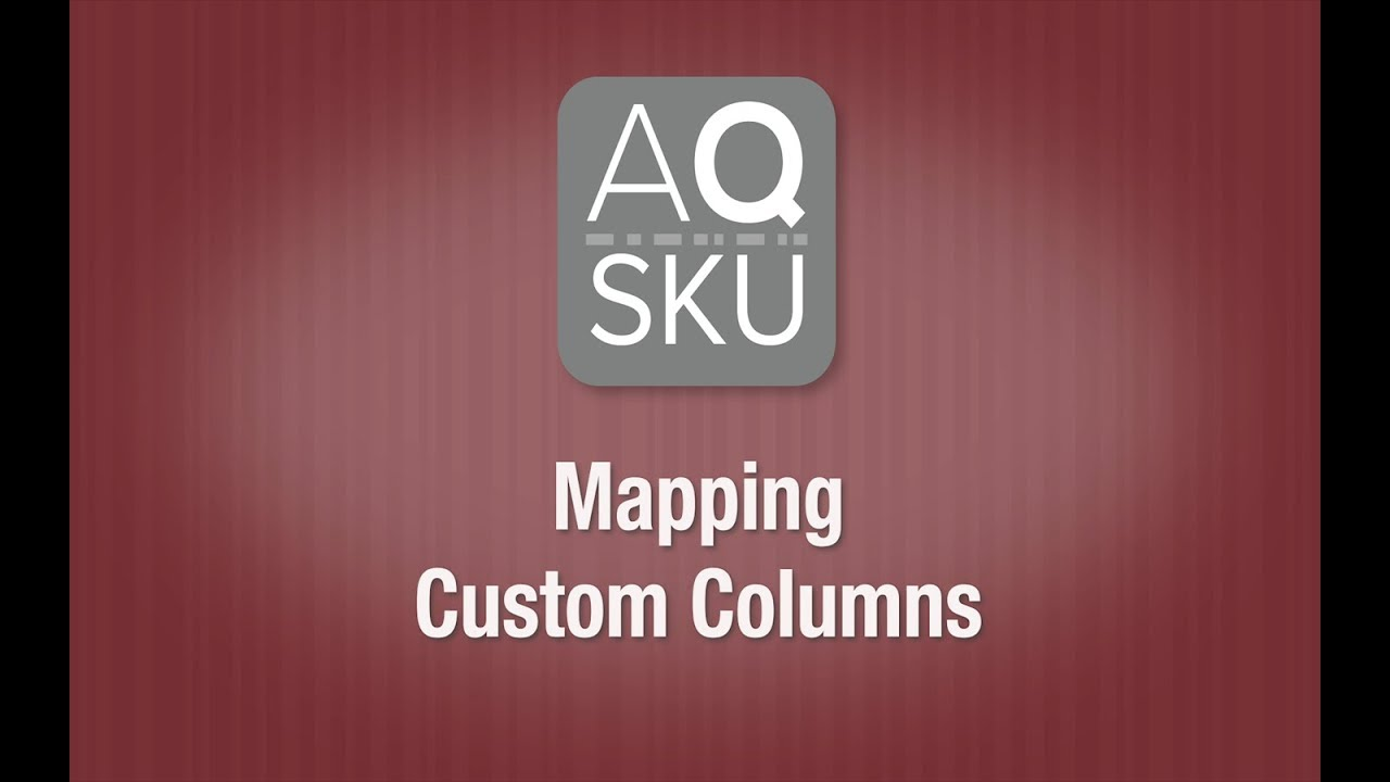 AQ SKU Help Series – Mapping Custom Columns