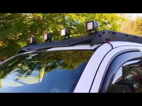 budget roof rack and lights for toyota tacoma