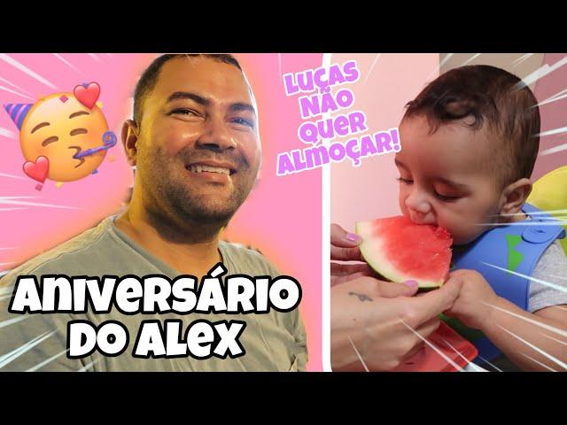 ANIVERSÁRIO DO ALEX - FOMOS NA HAMBÚRGUERIA - LUCAS NÃO ESTÁ ACEITANDO BEM O ALMOÇO - SÓ COME FRUTA
