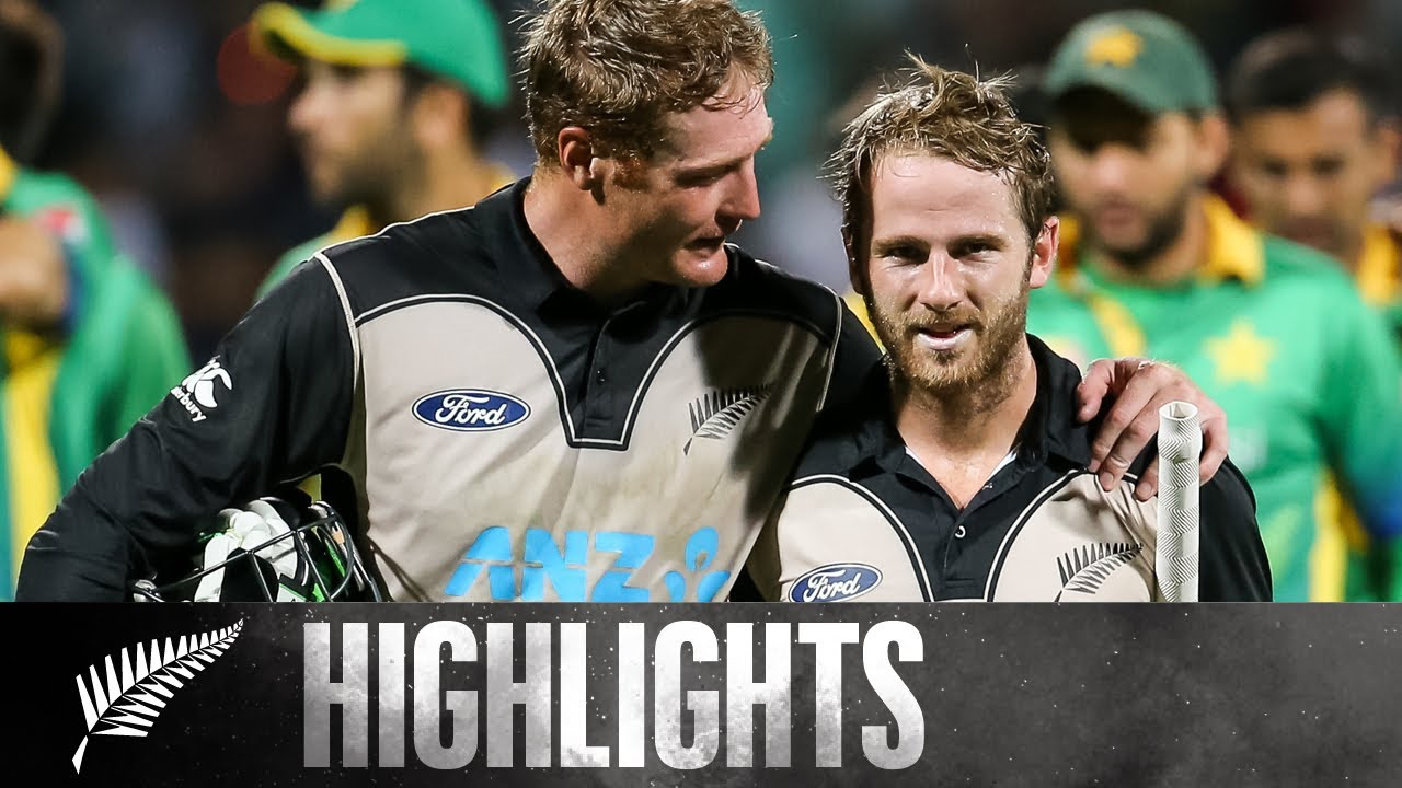 World Record Opening Partnership! | HIGHLIGHTS | 2nd T20 - BLACKCAPS v Pakistan, 2016
