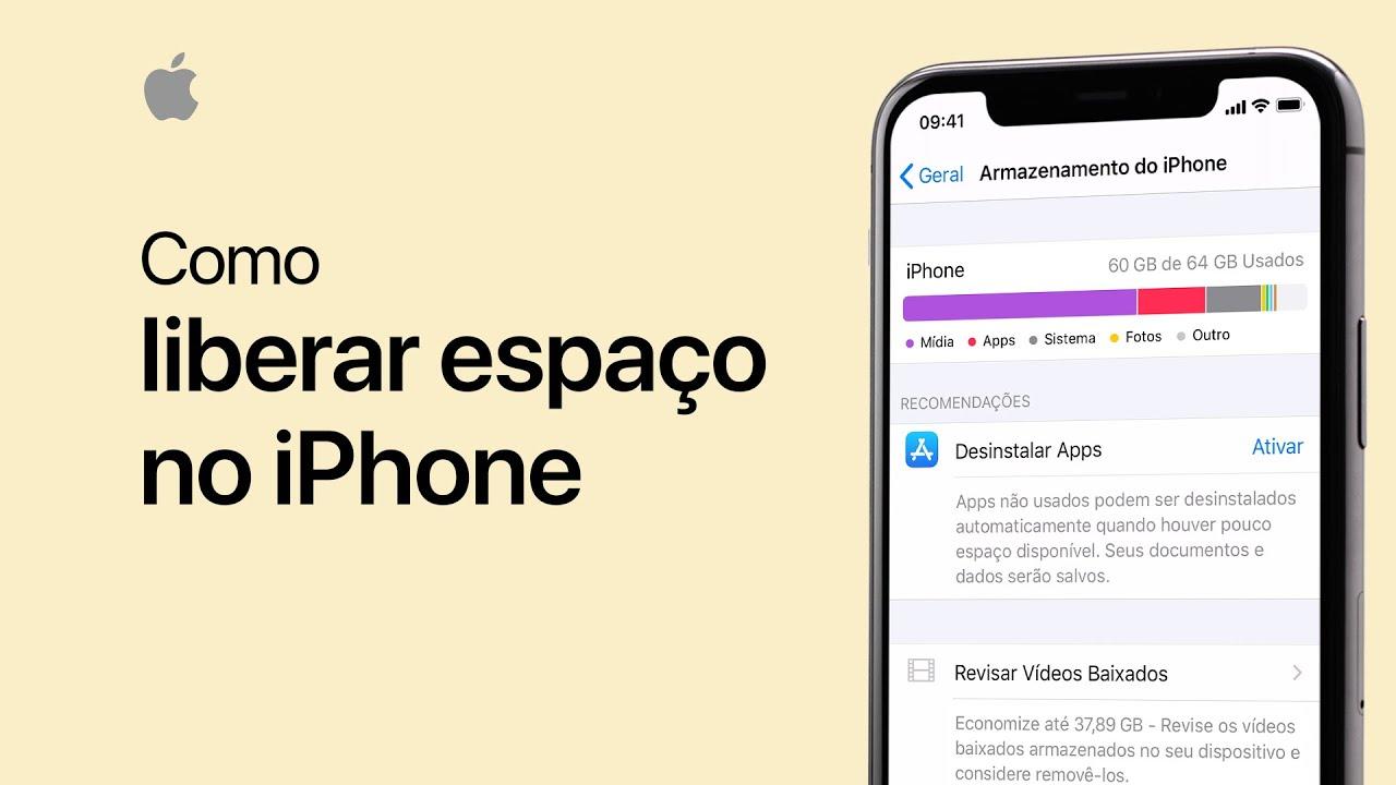 Como liberar espaço no iPhone, iPad e iPod touch - Suporte da Apple