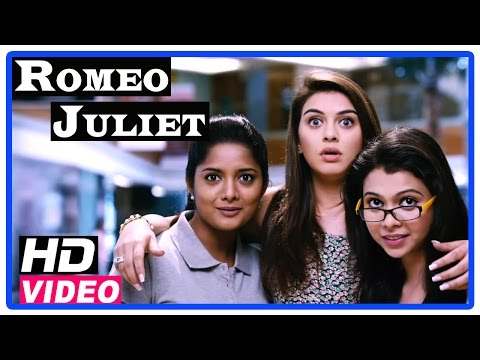 Romeo Juliet Tamil Movie | Scenes | Hansika and friends follows Jayam Ravi