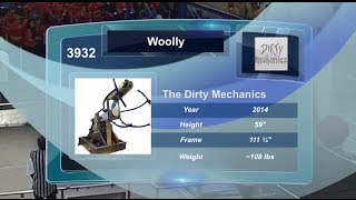3932 The Dirty Mechanics: Woolly-Our 2014 Robot