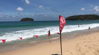 3 May 2019 Kata beach Phuket Thailand baby waves