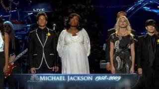 MICHEAL JACKSON Funeral: Jennifer Hudson performs Will You Be There