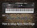 Roland RD-2000 - How to setup Apple MainStage