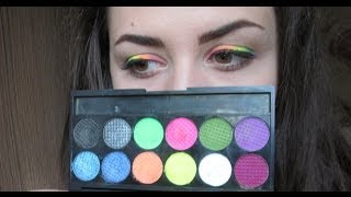 Machiaj de vara - curcubeu (summer rainbow makeup) with Sleek Acid Thumbnail