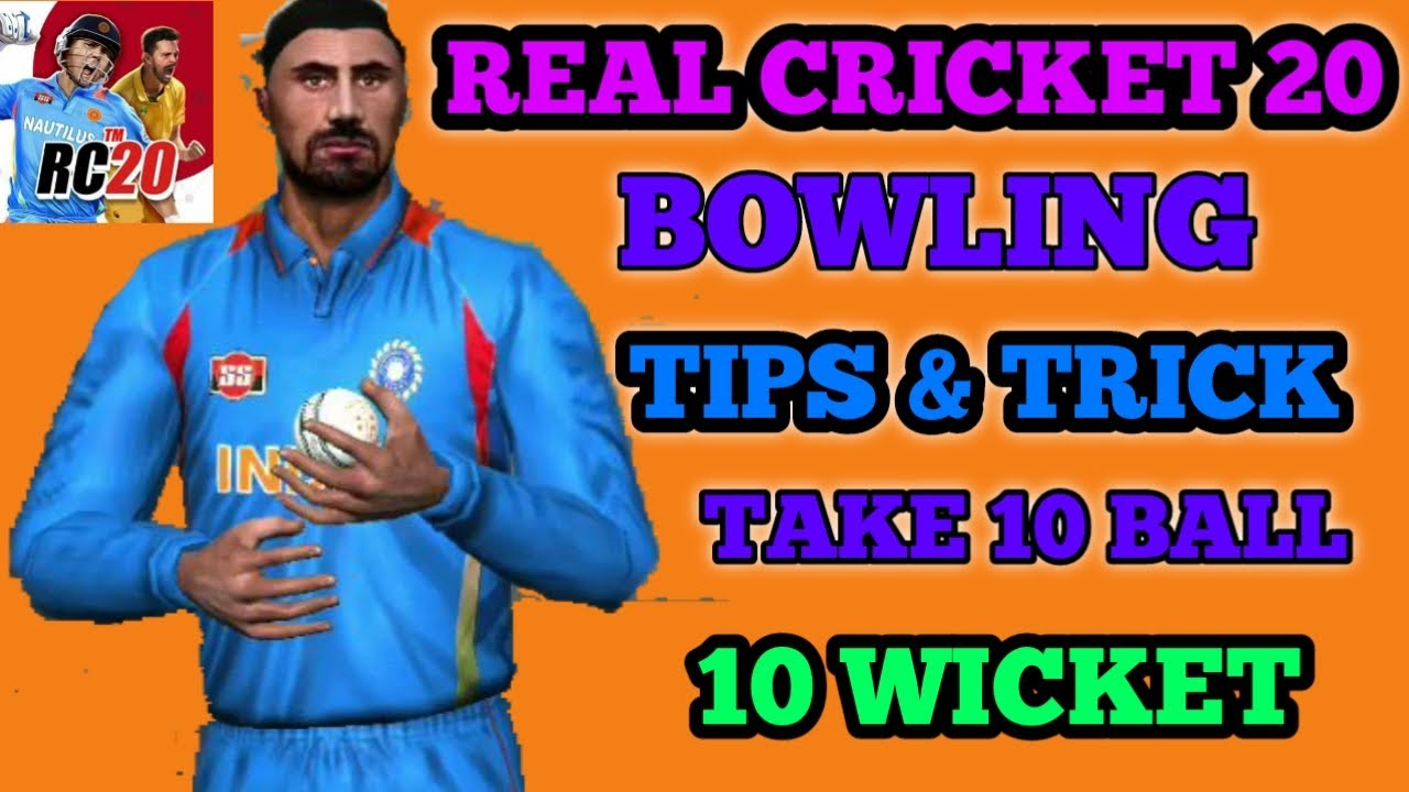 Real Cricket 20 Bowling Tips | How To Take Wickets In Real Cricket 20 | rc 20 new bowling tricks