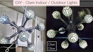DIY Dollar Tree Glam Wireless Light 💎 Indoor and outdoor  home decor
