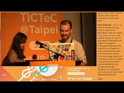 TICTeC@Taipei: Examples of Civic Technologies and Their Impacts