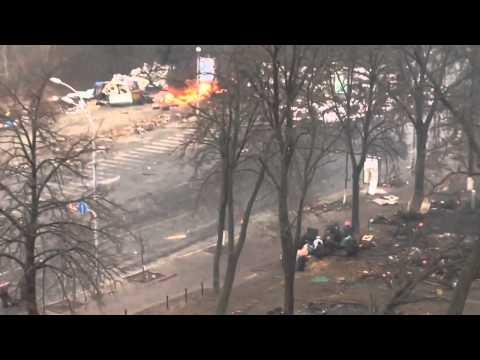 Ukraine sniper shooting protesters in Kiev 20022014153