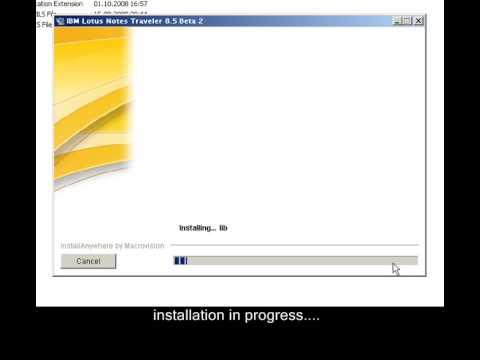 IBM Lotus Traveler 8.5 Install