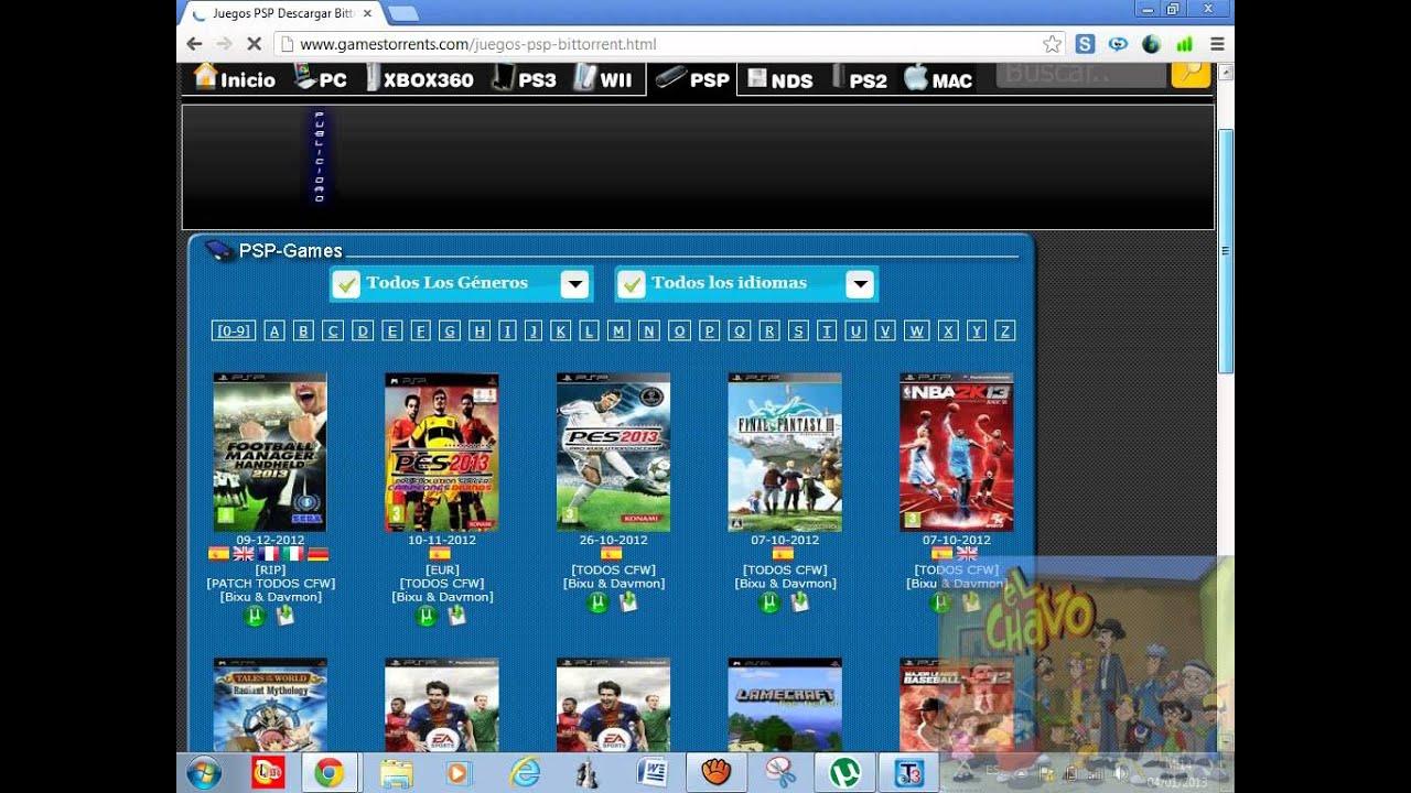 como descargar juegos de PSP Y DE PS2 para el torrent ...