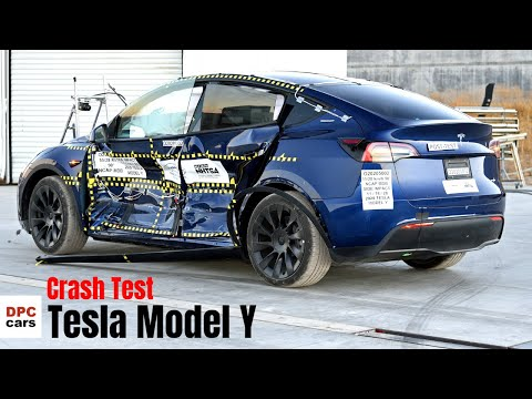 Tesla Model Y Crash Test By NHTSA Recives Five Star Rating