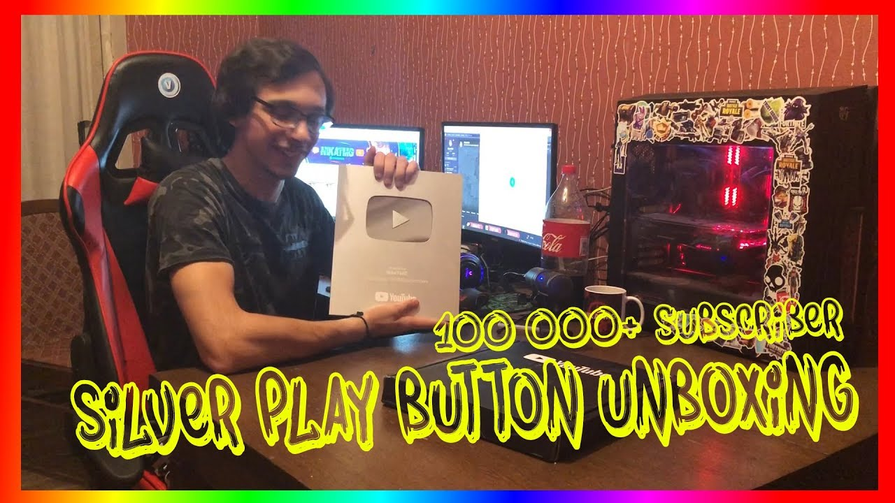 YOUTUBE SILVER PLAY BUTTON UNBOXING!!! 100K SUB REWARD!!!