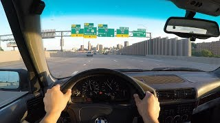 BMW e34 540/6 POV driving GoPro 5