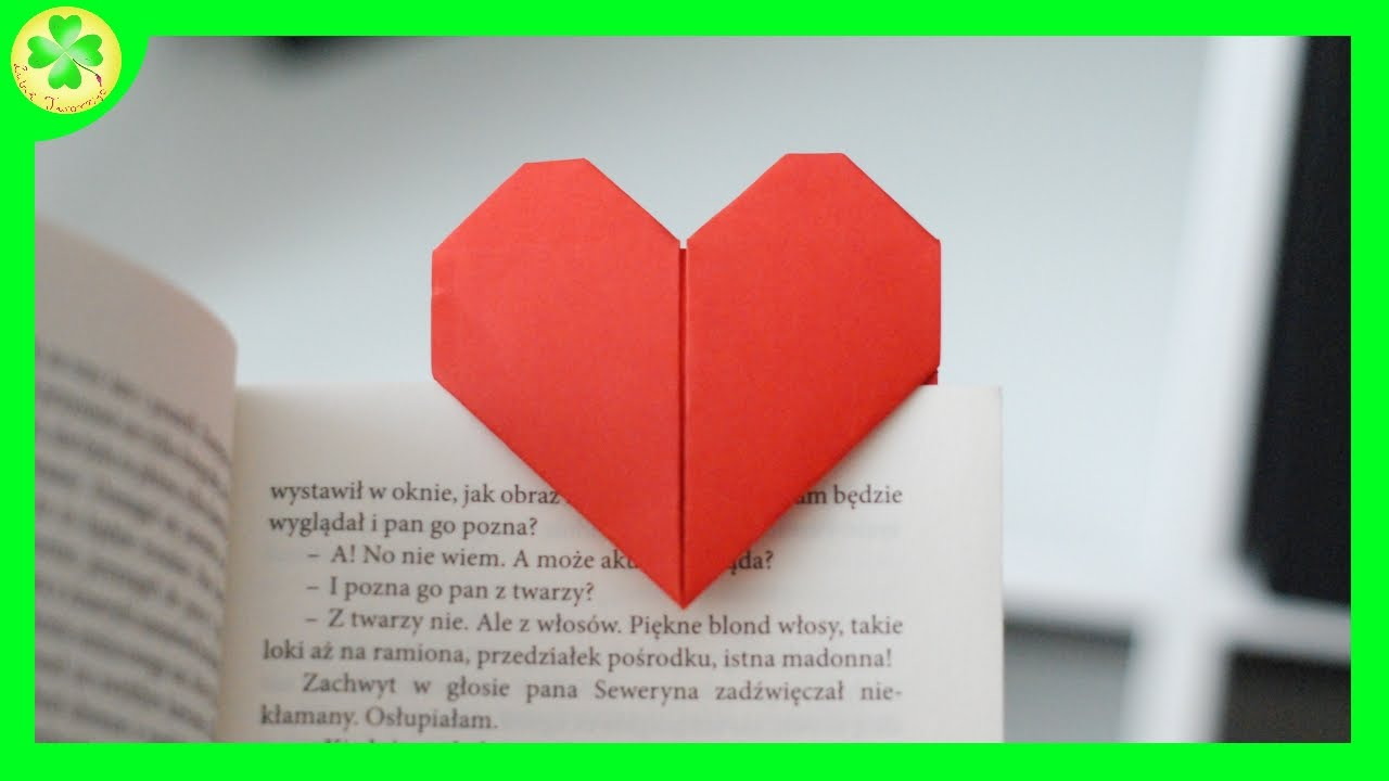Serce Origami Zakadka Do Ksiki Origami Heart