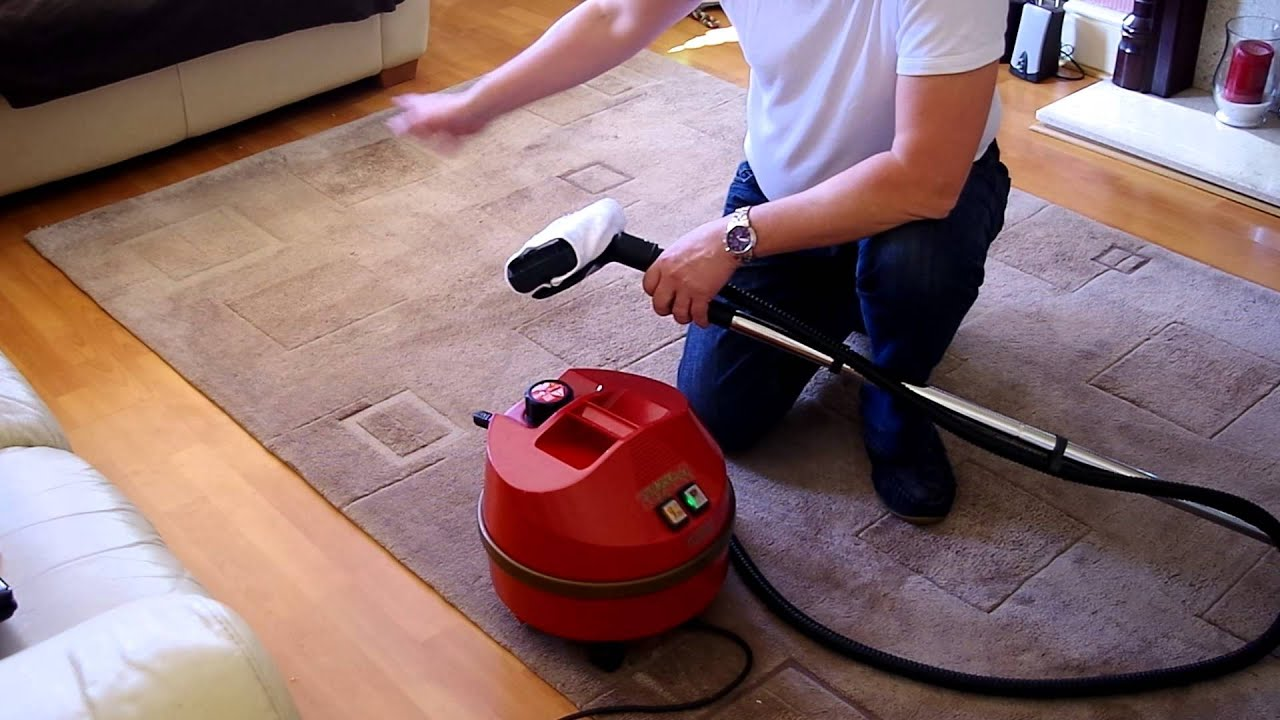 Carpet Rug Steam Cleaning Demonstration Using The Goblin