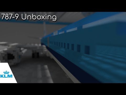 Unboxing the new KLM Boeing 787 Dreamliner - Minecraft