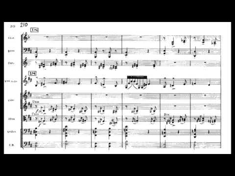 Maurice Ravel - Tzigane For Violin And Orchestra (1924) [Score-Video]