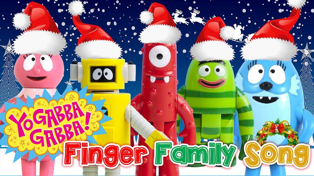 DADDY Toodee Yo GABBA GABBA FINGER FAMILY ♥Toy Nursery Rhyme♥ Kids Songs Merry Christmas